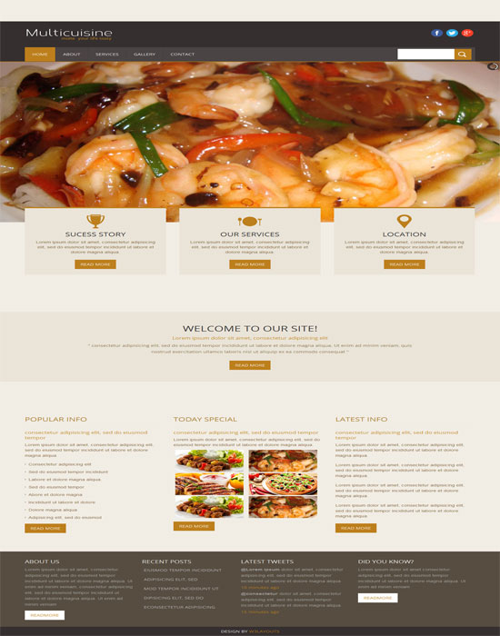 Multicuisine -thiet ke website cafe mien phi