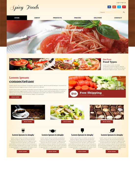 Spicy Food-thiet ke website cafe mien phi