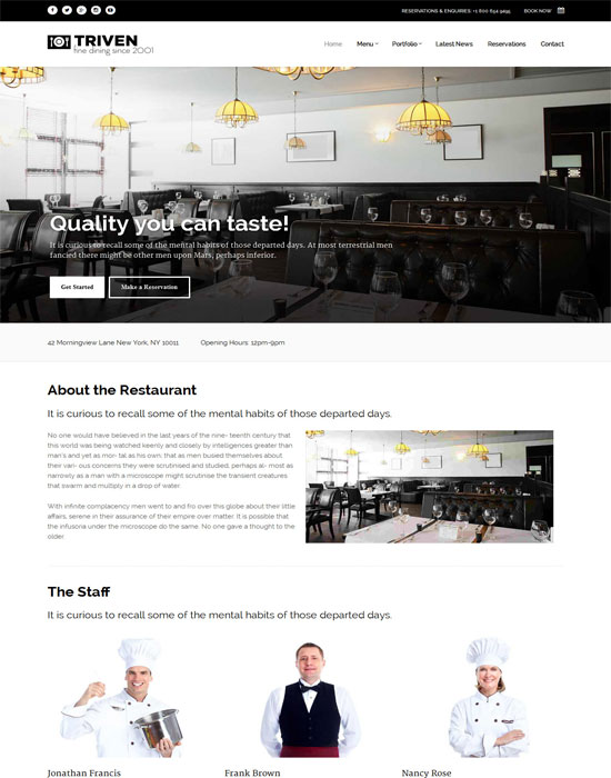 Triven - thiet ke website cafe