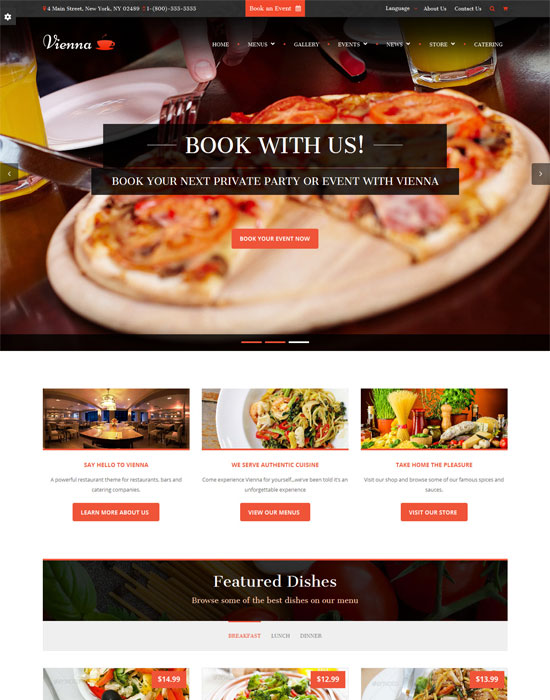 Vienna - thiet ke website cafe mien phi