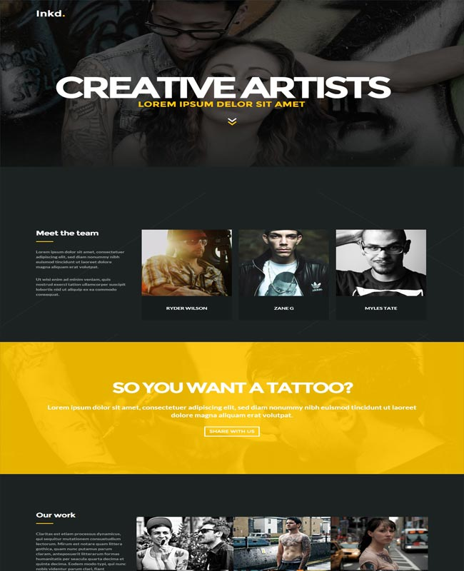 inkd tattoo studio thiet ke website dep