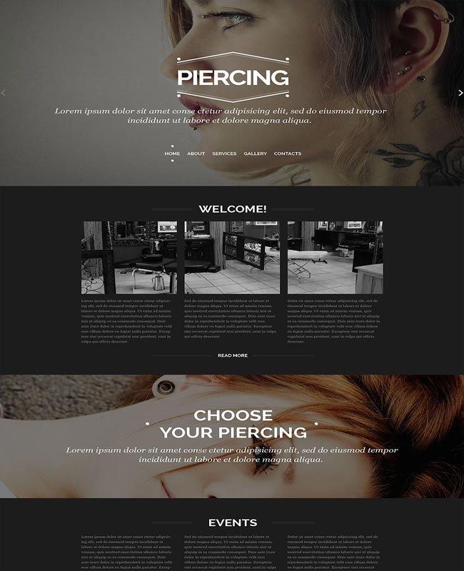 piercing thiet ke website dep