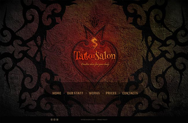 tattoo salon thiet ke website dep