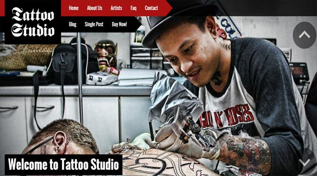 tattoo studio thiet ke website dep