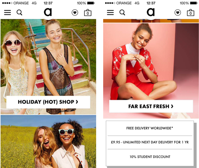 Asos thiet ke website ban hang