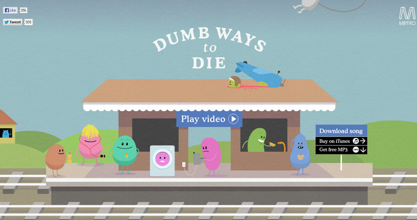 dumb ways to die thiet ke website dep