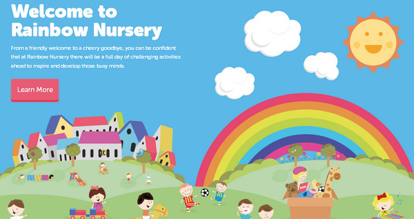 rainbow nursery thiet ke website dep