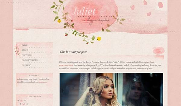 juliet personal blog thiet ke website dep