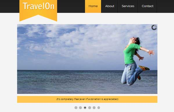 travel on thiet ke website du lịch