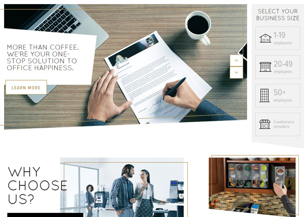 8 vanhouttecoffeeservices card layout trong thiet ke web