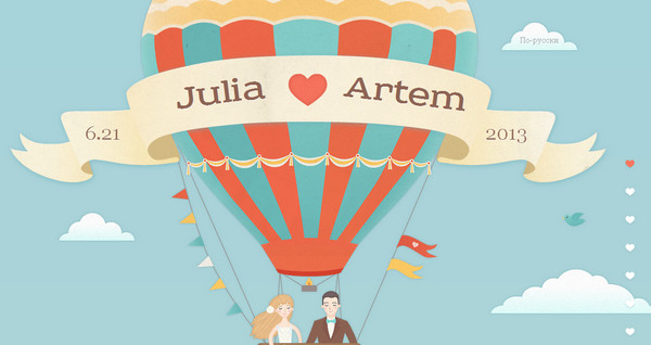artem and julia wedding thiet ke web single page