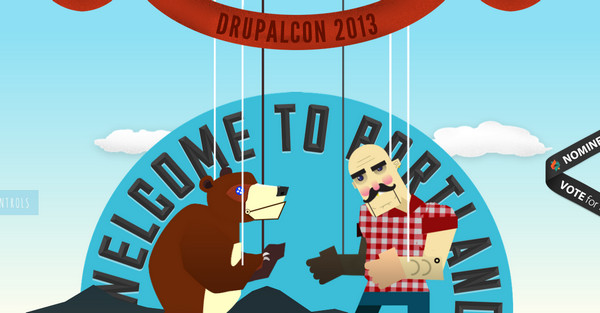drupalcon portland thiet ke web single page