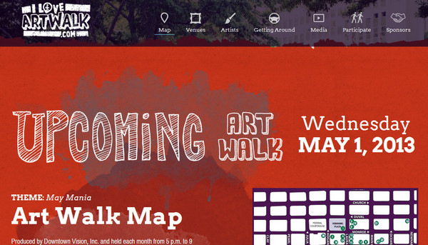 jacksonville art walk thiet ke web single page