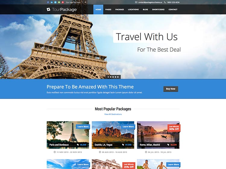 Tour Package thiet ke website du lich dep