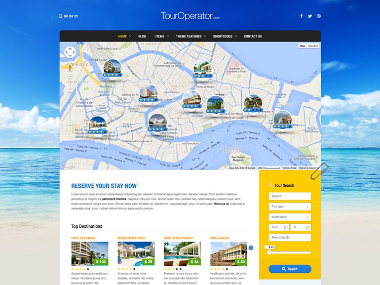 Tour Operator - Best WordPress Tourism Themes