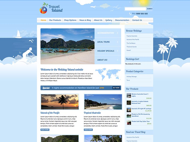 Travel Island thiet ke website du lich dep
