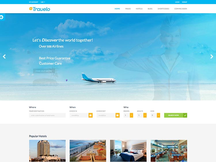 Travelo thiet ke website du lich dep