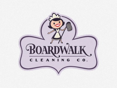 Boardwalk Cleaning thiet ke logo dep