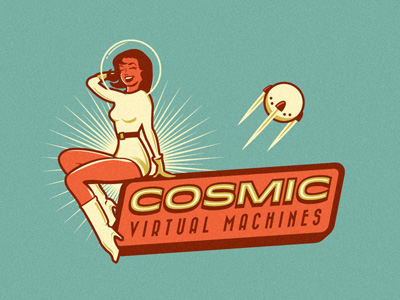 Cosmic Virtual Machines thiet ke logo dep