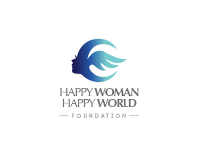Happy Woman Happy World Foundation thiet ke logo dep