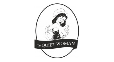 The Quiet Woman Pub thiet ke logo dep