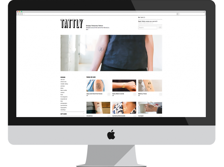 tattly thiet ke website ban hang