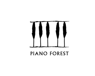 Piano Forest thiet ke logo nghe thuat