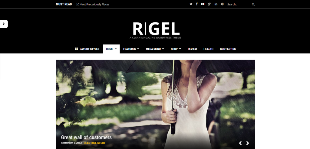 Rigel Editorial thiet ke website phim