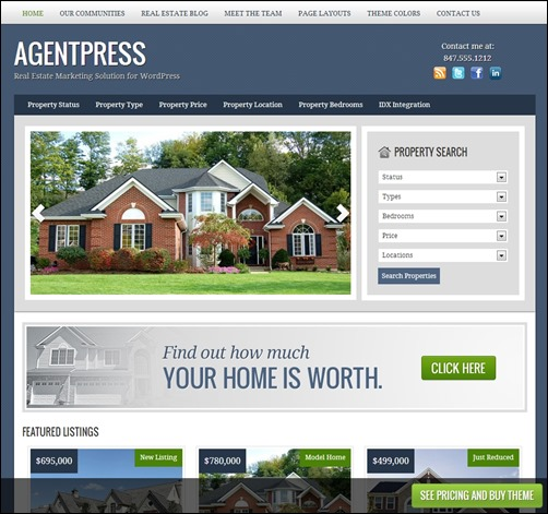 agentpress theme realtor websites templates thumb thiet ke website bat dong san
