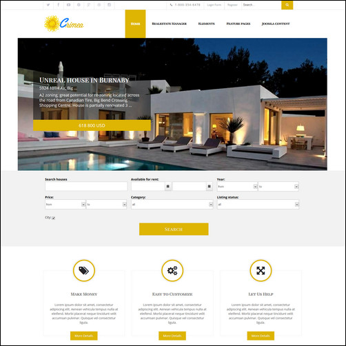 crimea real estate joomla thiet ke website bat dong san