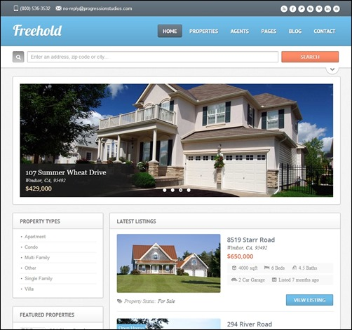 freehold best real estate website templates thumb thiet ke website bat dong san