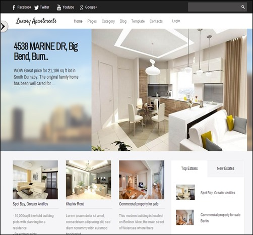 luxury apartment real estate website templates3 thumb thiet ke website bat dong san