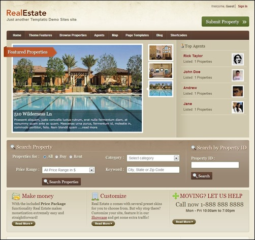 real estate 2 real estate web design inspiration thumb thiet ke website bat dong san