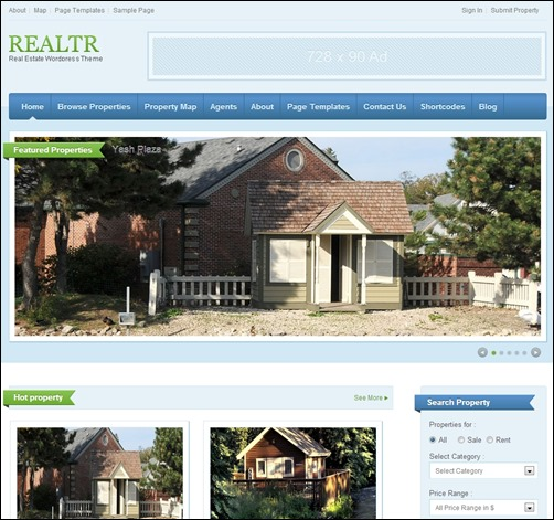 realtr real estate website templates thumb thiet ke website bat dong san