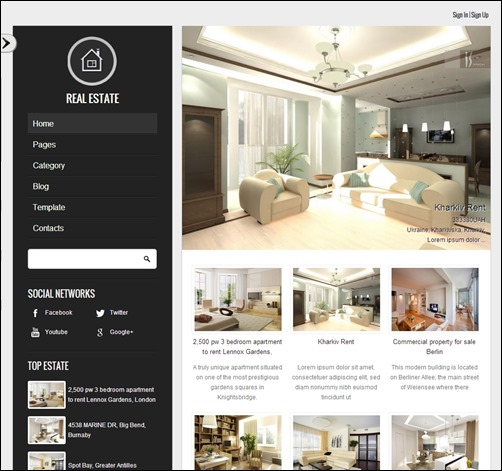 royal estate real estate website templates9 thumb thiet ke website bat dong san