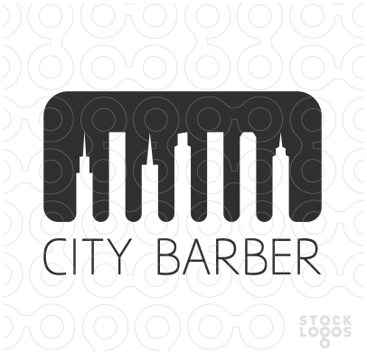 City Barber StockLogos thiet ke logo dep
