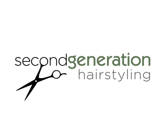Second Generation Hairstyling thiet ke logo dep