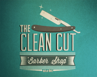 The clean cut thiet ke logo dep
