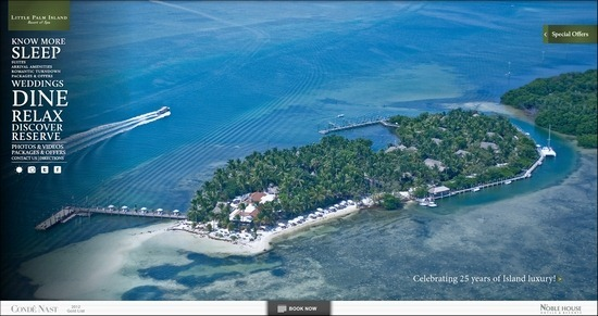 Little Palm Island thiet ke website khach san