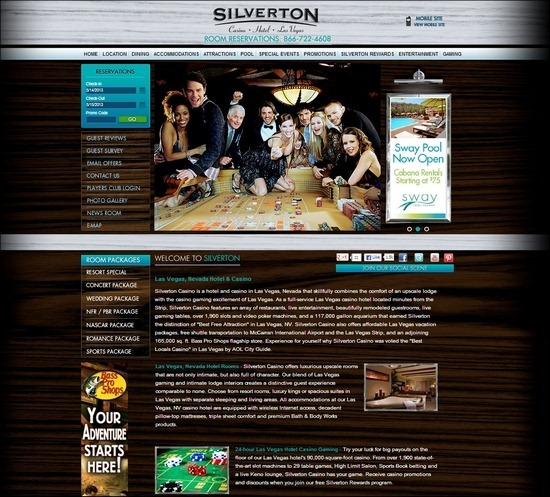 Silverton Casino thiet ke website khach san