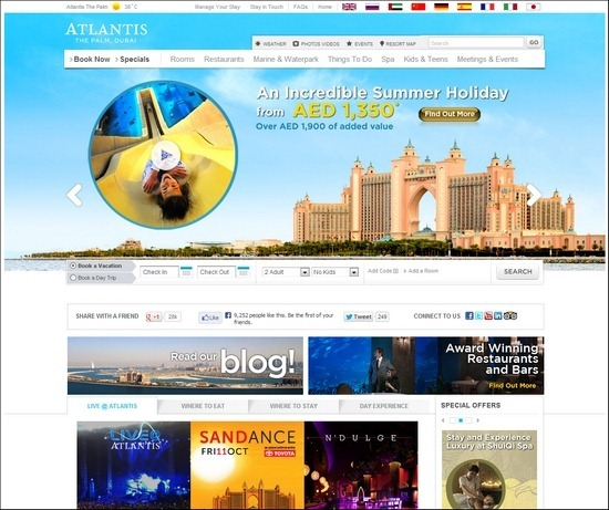 Atlantis thiet ke website khach san