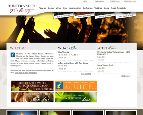 huntervalley thiet ke web du lich