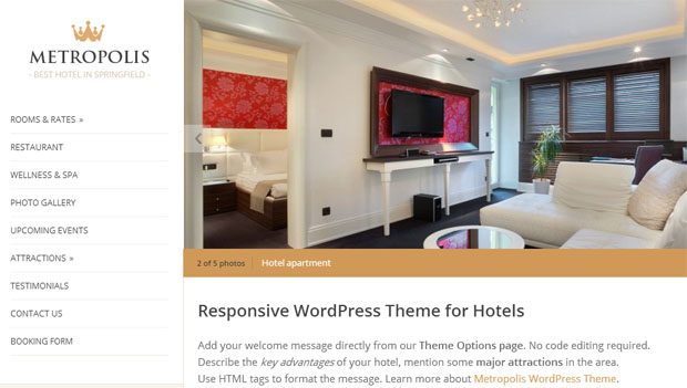 metropolis tourism wordpress responsive theme thiet ke web du lich