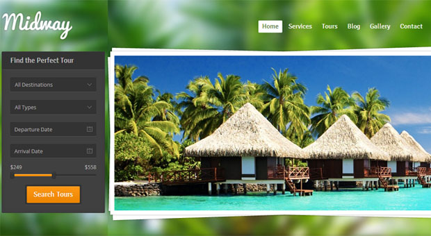midway tourism wordpress responsive theme thiet ke web du lich