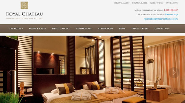 royal chateau tourism wordpress responsive theme thiet ke web du lich