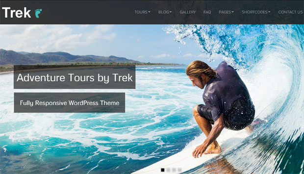 trek tourism wordpress responsive theme thiet ke web du lich