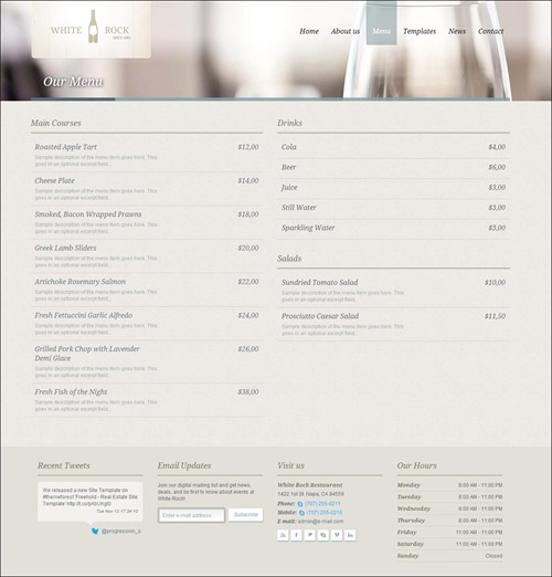 white rock restaurant menu templates3 thumb thiet ke web nha hang