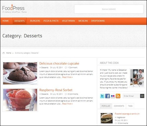 foodpress thumb thiet ke web nha hang