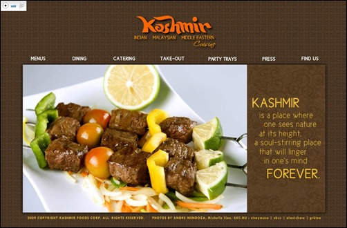 kashmir restaurant web design thumb thiet ke web nha hang
