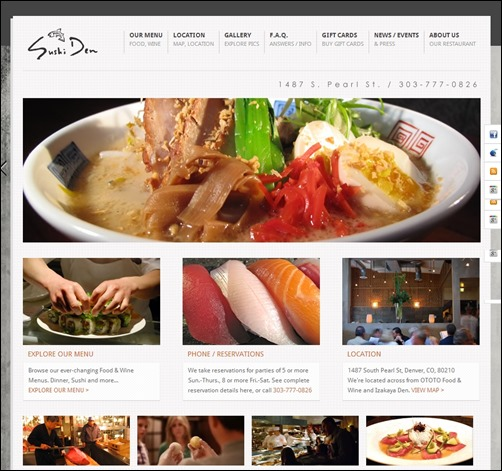 sushi den best restaurant websites thumb thiet ke web nha hang